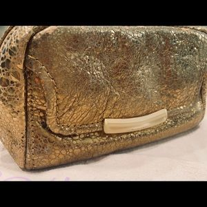 Botkier Metallic Leather Cosmetic Case